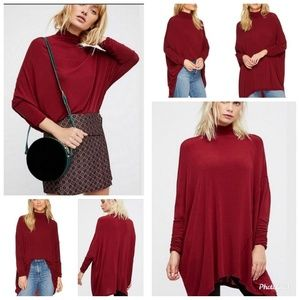 Free People We The Free Terry Turtleneck Top